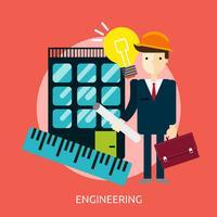 Progettazione dell'illustrazione concettuale di ingegneria vettore