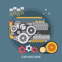 Progettazione concettuale dell'illustrazione della macchina dell'automobile