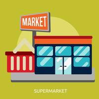 Progettazione dell'illustrazione concettuale del supermercato vettore