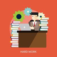 Progettazione concettuale dell'illustrazione del duro lavoro