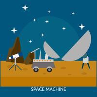 Progettazione concettuale dell'illustrazione della macchina dello spazio