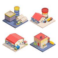 Set di icone isometriche di magazzino