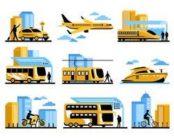 La gente di viaggio ha isolato le icone decorative impostate