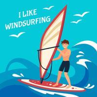 Illustrazione del fondo di windsurf vettore