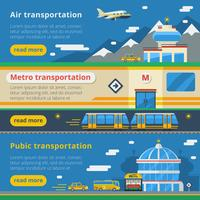 Bandiere orizzontali del trasporto passeggeri