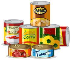 Set di cibo in scatola