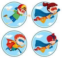 Set di super eroe vettore