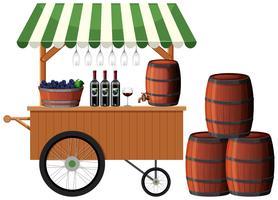Una bancarella di un negozio di vini