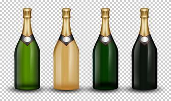 Set di bottiglia di champagne