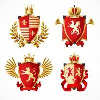 Set di stemma araldico vettore