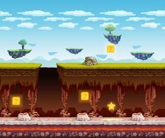 Schermo del fumetto del piano sotterraneo del gioco elettronico vettore