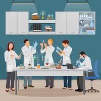 Illustrazione di scienza e laboratorio vettore