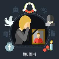 Insieme di concetto di lutto