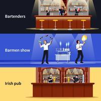 Set di banner di persone cocktail