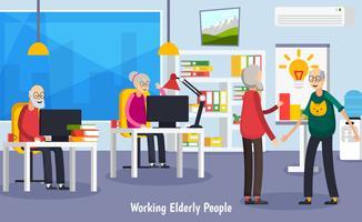 Concetto ortogonale degli anziani invecchiato vettore