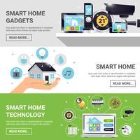 Set di banner orizzontale casa intelligente