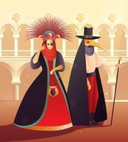 Illustrazione del partito di carnevale