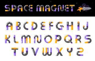 Lettere di carattere creativo alfabeto impostato vettore