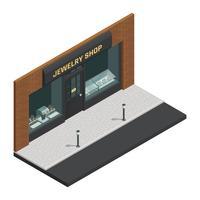 Composizione isometrica del negozio di gioielli vettore