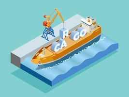 Modello isometrico del porto marittimo