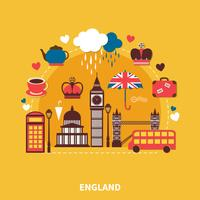 Punti di riferimento dell'Inghilterra vettore
