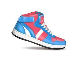 sneaker di colore sportivo vettore