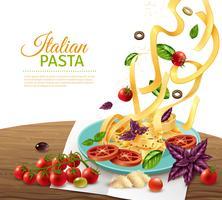 Poster di concetto di pasta