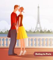 Incontri sullo sfondo di Parigi vettore