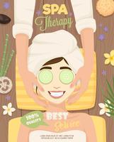 Spa Poster di routine per la cura della pelle vettore
