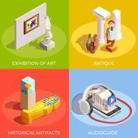 Concetto di design del Museo antico vettore