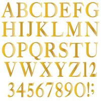 alfabeto serif oro