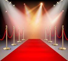 Red Carpet in composizione di illuminazione vettore