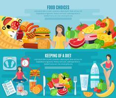 Dieta povera di grassi alimentari sani vettore
