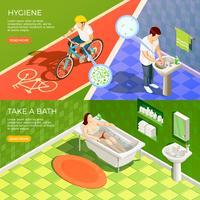 Set di banner orizzontali per bagno