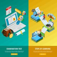 Set di banner verticali di e-learning