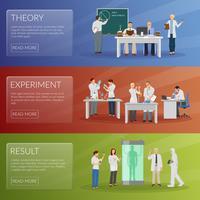 Set di banner di scienziato