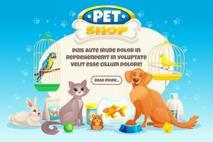 Composizione del negozio di animali vettore