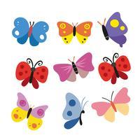 Disegno vettoriale di carattere farfalla