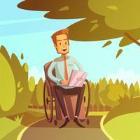 Illustrazione di uomo d'affari disabili vettore