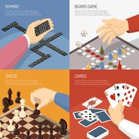Concetto di design di giochi da tavolo vettore