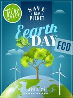 Poster di sensibilizzazione all'ecologia della Giornata della Terra vettore
