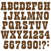 alfabeto di venatura del legno