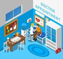 Medico esaminando paziente isometrica Poster