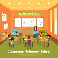 Modello di aula della scuola primaria vettore
