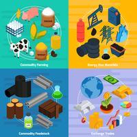 Set di icone di concetto di merce