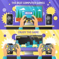 Banner orizzontale di gioco Gadget vettore
