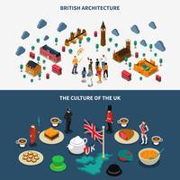 Set di bandiere della Gran Bretagna