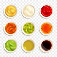 Set di icone di salsa vettore
