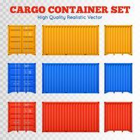 Set di contenitori trasparenti per il carico vettore