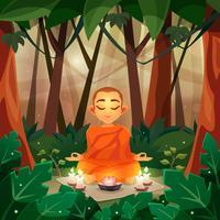 Buddha illustrazione piatta